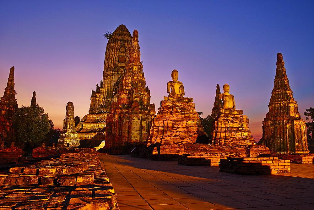 Wat Chai Wattanaram, Ayutthaya Historical Park, UNESCO World Heritage Site, Ayutthaya, Thailand, Southeast Asia, Asia - 841-1485