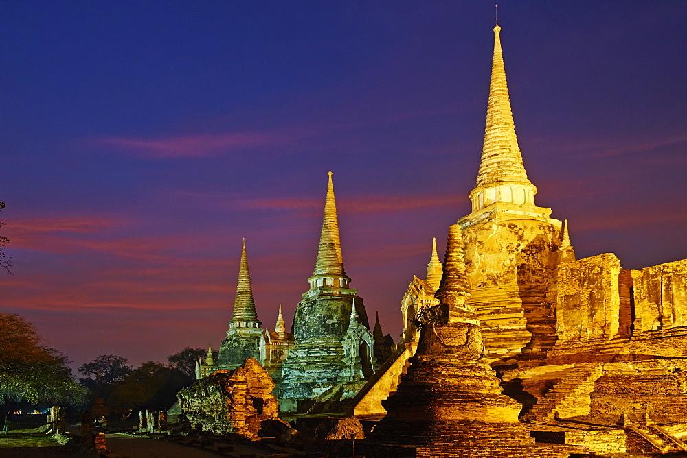 Wat Phra Si Sanphet, Ayutthaya Historical Park, UNESCO World Heritage Site, Ayutthaya, Thailand, Southeast Asia, Asia - 841-1492