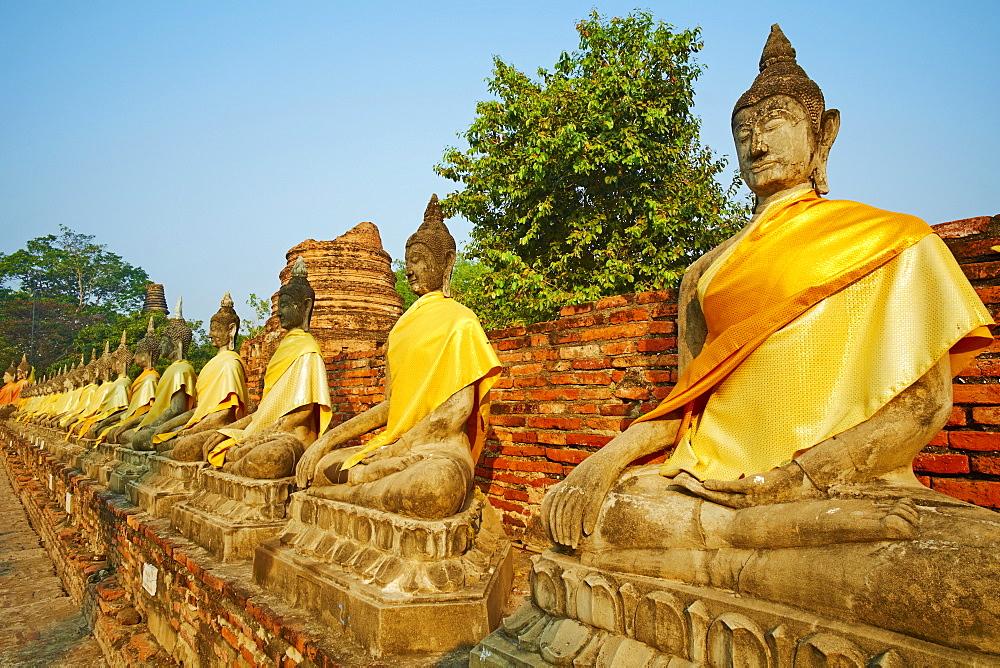 Wat Yai Chai Mongkhon, Ayutthaya Historical Park, UNESCO World Heritage Site, Ayutthaya, Thailand, Southeast Asia, Asia - 841-1494