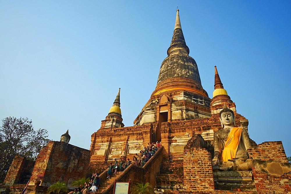 Wat Yai Chai Mongkhon, Ayutthaya Historical Park, UNESCO World Heritage Site, Ayutthaya, Thailand, Southeast Asia, Asia - 841-1495