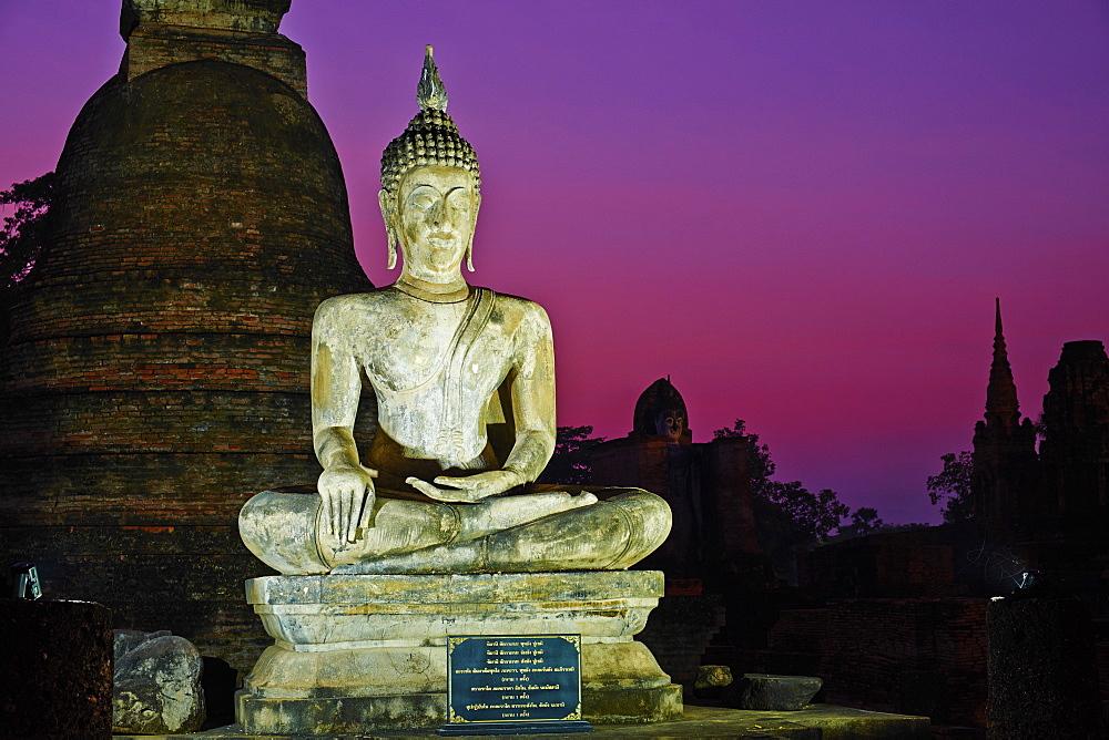 Wat Mahatat, Sukhothai Historical Park, UNESCO World Heritage Site, Sukhothai, Thailand, Southeast Asia, Asia - 841-1525