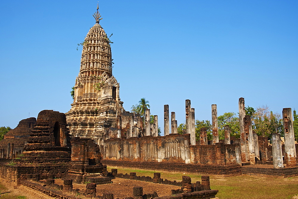 Wat Mahatat Temple, ancient city Si Satchanalai, UNESCO World Heritage Site, Sukhothai Province, Thailand, Southeast Asia, Asia - 841-1530