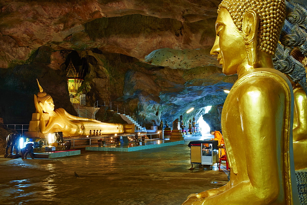 Wat Tham Suwan Khuha Buddhist Cave, Phang Nga Bay, Krabi Province, Thailand, Southeast Asia, Asia - 841-1571