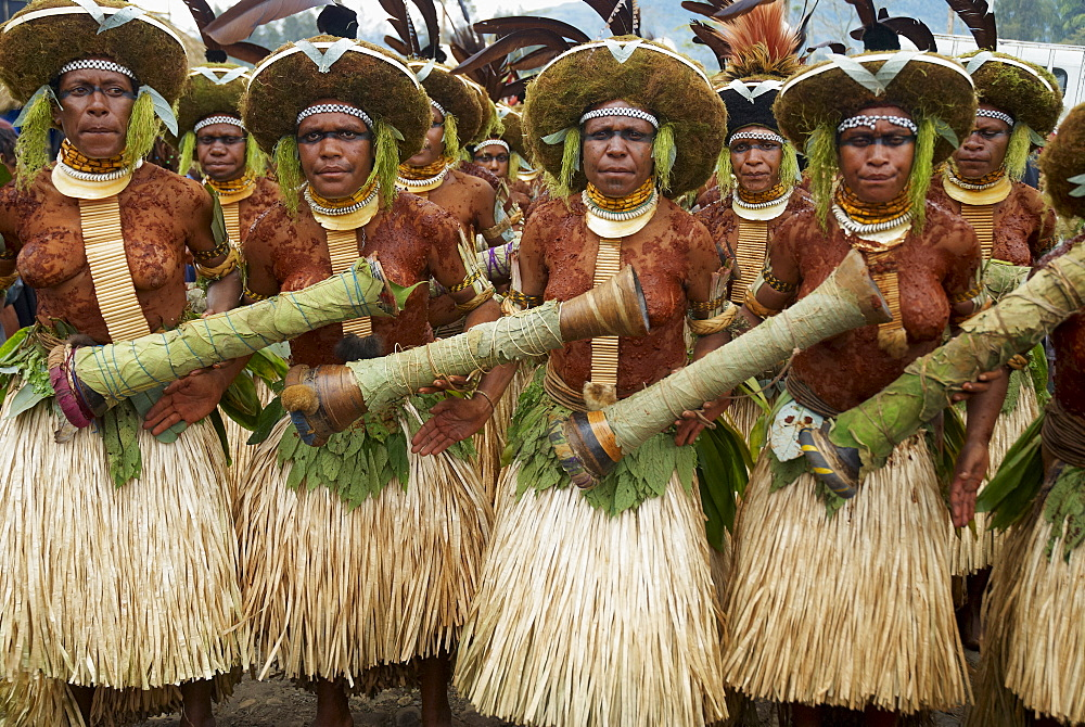 Sing Sing of Mount Hagen, a cultural show with ethnic groups, Mount Hagen, Western Highlands, Papua New Guinea, Pacific