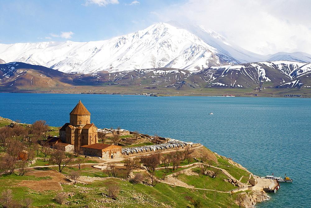 Armenian church, Akdamar island, Lake Van, Anatolia, Turkey, Eurasia