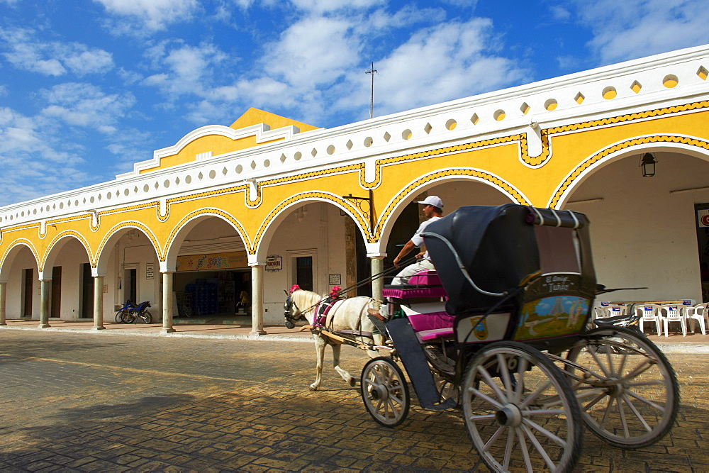 Convento De San Antonio De Padua (Convent of San Antonio De Padua), Monastery in Izamal, the yellow city, Yucatan state, Mexico, North America