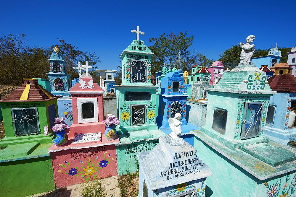 Mayan cemetery, Hoctun, Yucatan State, Mexico, North America