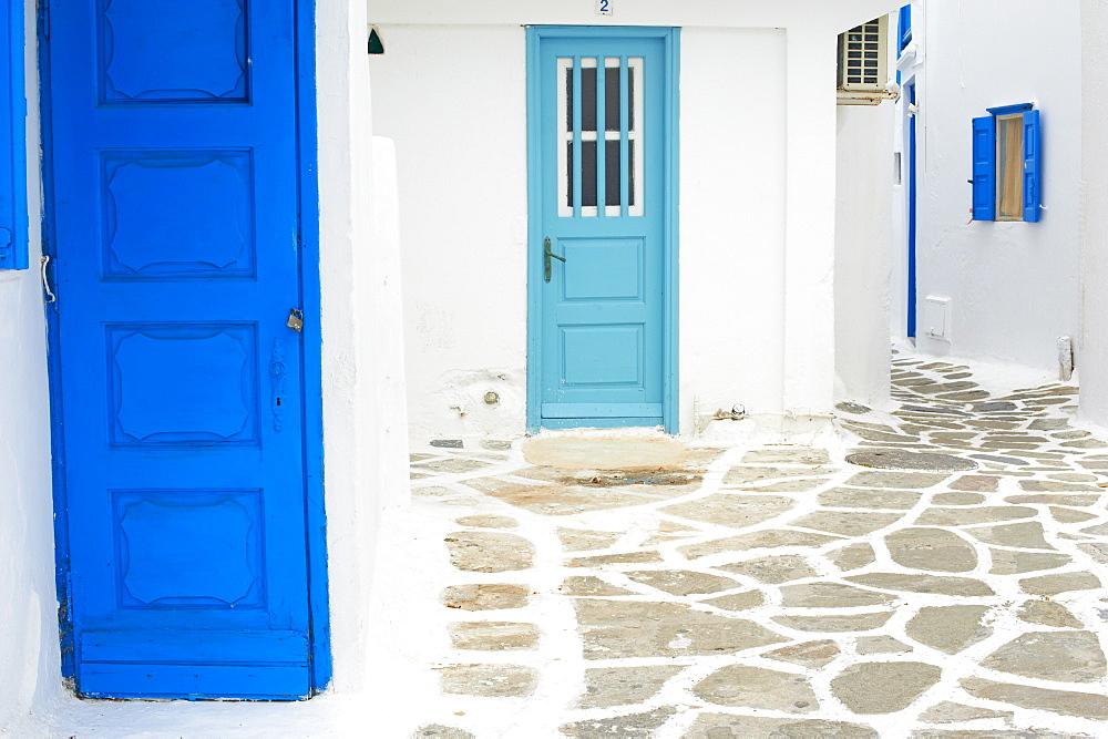 Doors and windows, Chora, Mykonos town, Mykonos, Cyclades, Greek Islands, Greece, Europe