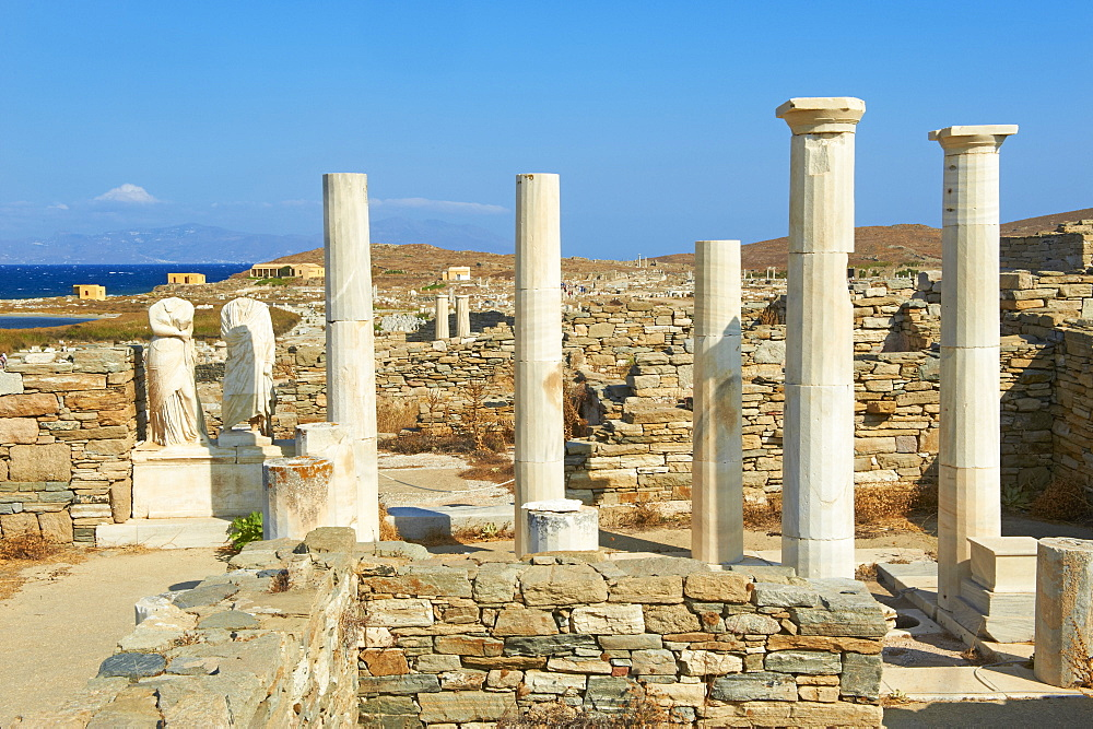 House of Cleopatra, Quarter of the Theatre, Delos, UNESCO World Heritage Site, Cyclades Islands, Greek Islands, Greece, Europe
