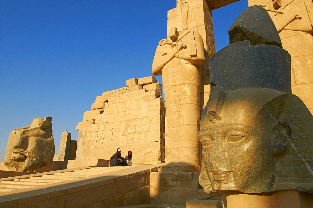 Ramesseum Temple, West Bank of the River Nile, Thebes, UNESCO World Heritage Site, Egypt, North Africa, Africa