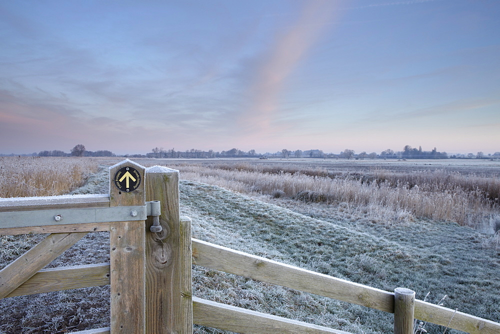 Winter scene in the Norfolk Broads near Ludham Bridge, Norfolk, United Kingdom, Europe