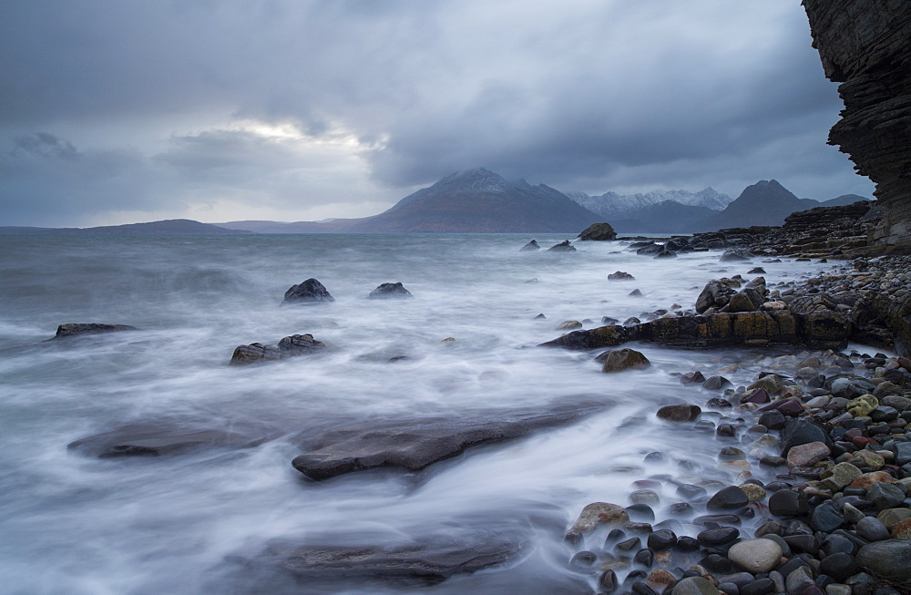 Stormy conditions at Elgol, Isle of Skye, Scotland, United Kingdom, Europe