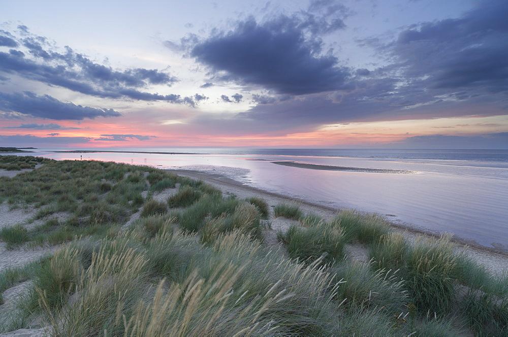 A view of Holkham Bay, Norfolk, England, United Kingdom, Europe