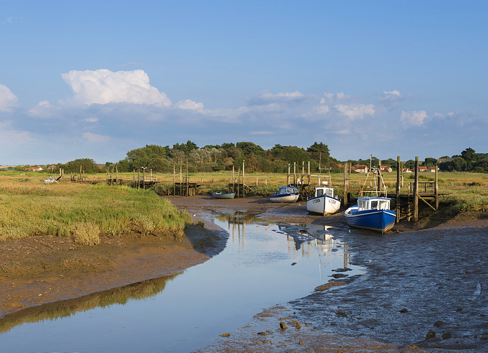 A view of the mooring at Thornham, Norfolk, England, United Kingdom, Europe