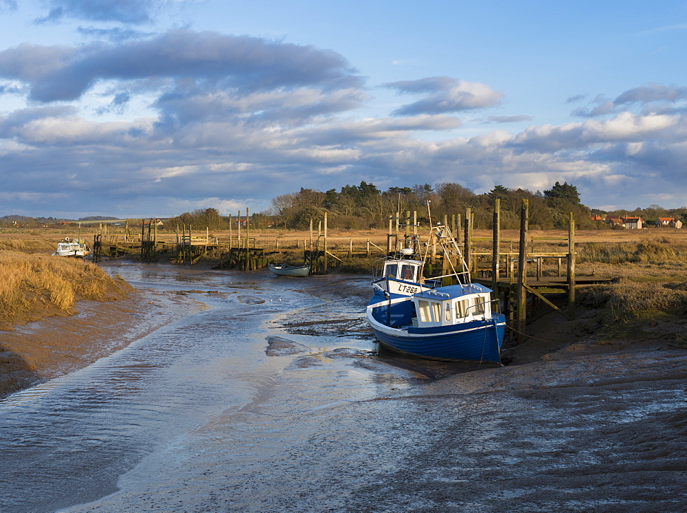 A view of the mooring at Thornham, Norfolk, England, United Kingdom, Europe - 842-479