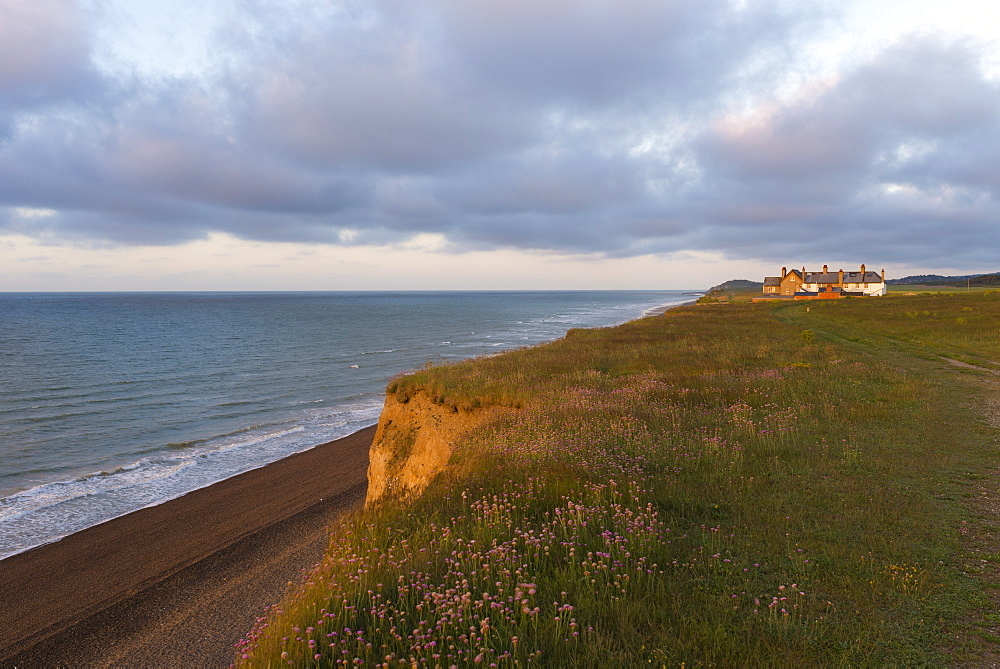 Beautiful evening light at Weybourne, Norfolk, England, United Kingdom, Europe