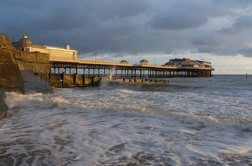 A view of Cromer pier, Norfolk, England, United Kingdom, Europe