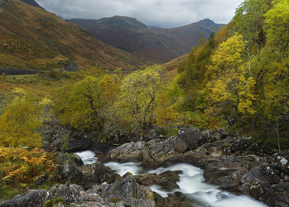 A scene from Glen Shiel, Inverness-Shire, Scotland, United Kingdom, Europe