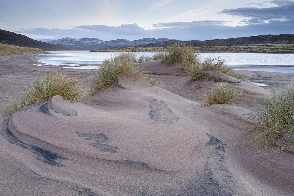 The beach and dunes at Sandwood Bay, Sutherland, Scotland, United Kingdom, Europe - 842-504