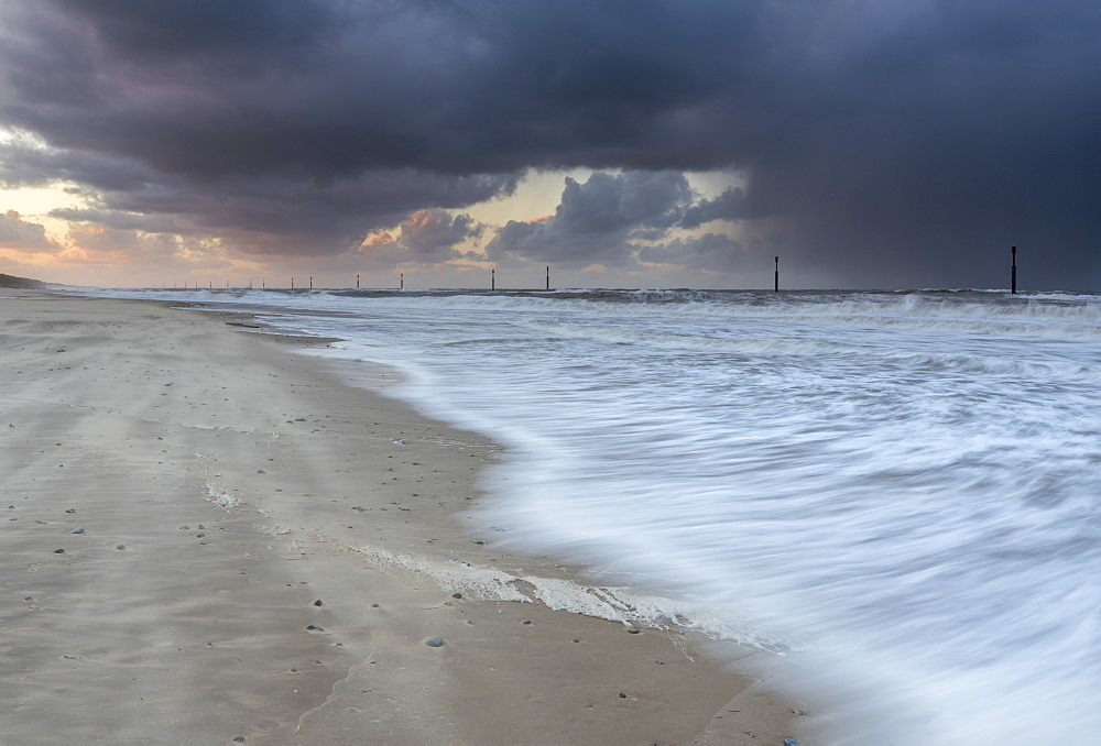 A stormy evening at Waxham, Norfolk, England, United Kingdom, Europe