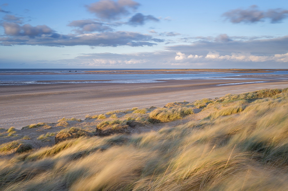 A windy evening at Brancaster Beach, Norfolk, England, United Kingdom, Europe - 842-522