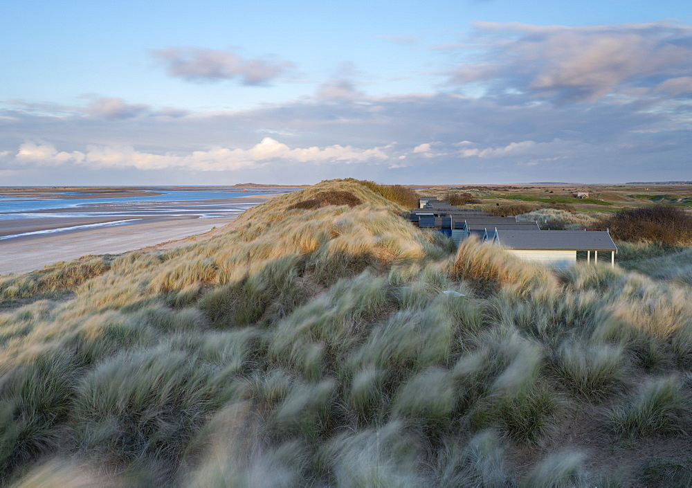 A windy evening at Brancaster Beach, Norfolk, England, United Kingdom, Europe - 842-523