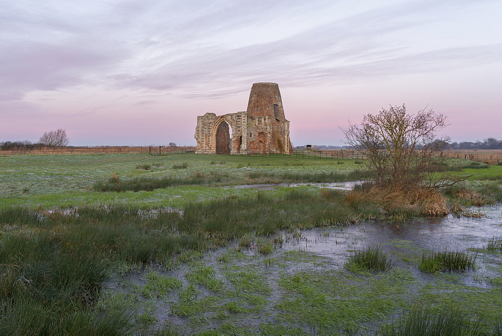 A view of St. Benet's Abbey, Norfolk, England, United Kingdom, Europe