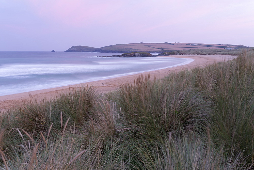 The dunes and beach at Constantine Bay, Cornwall, England, United Kingdom, Europe - 842-551