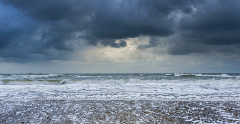 A stormy sea and sky at Happisburgh, Norfolk, England, United Kingdom, Europe