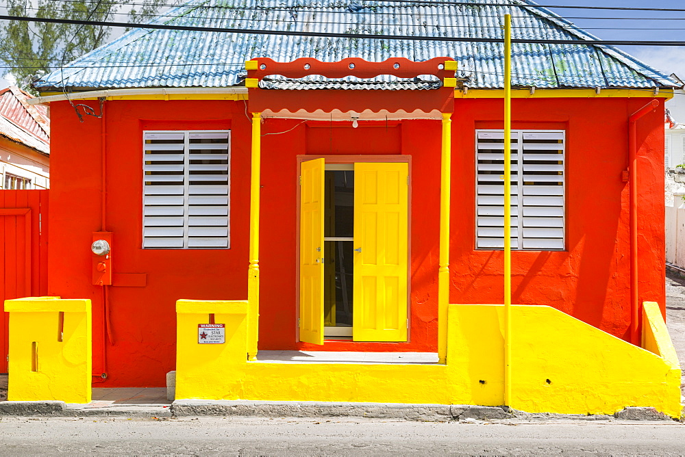 Colourful house on Bay Street, Bridgetown, St. Michael, Barbados, West Indies, Caribbean, Central America - 844-10399