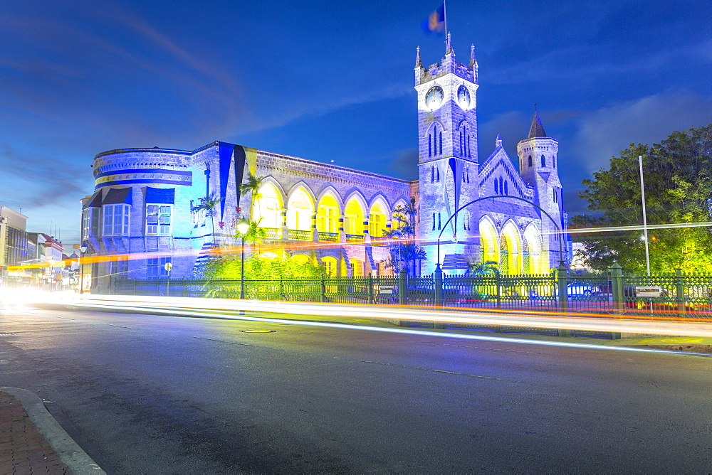 Parliament Building on Broad Street, Bridgetown, St. Michael, Barbados, West Indies, Caribbean, Central America