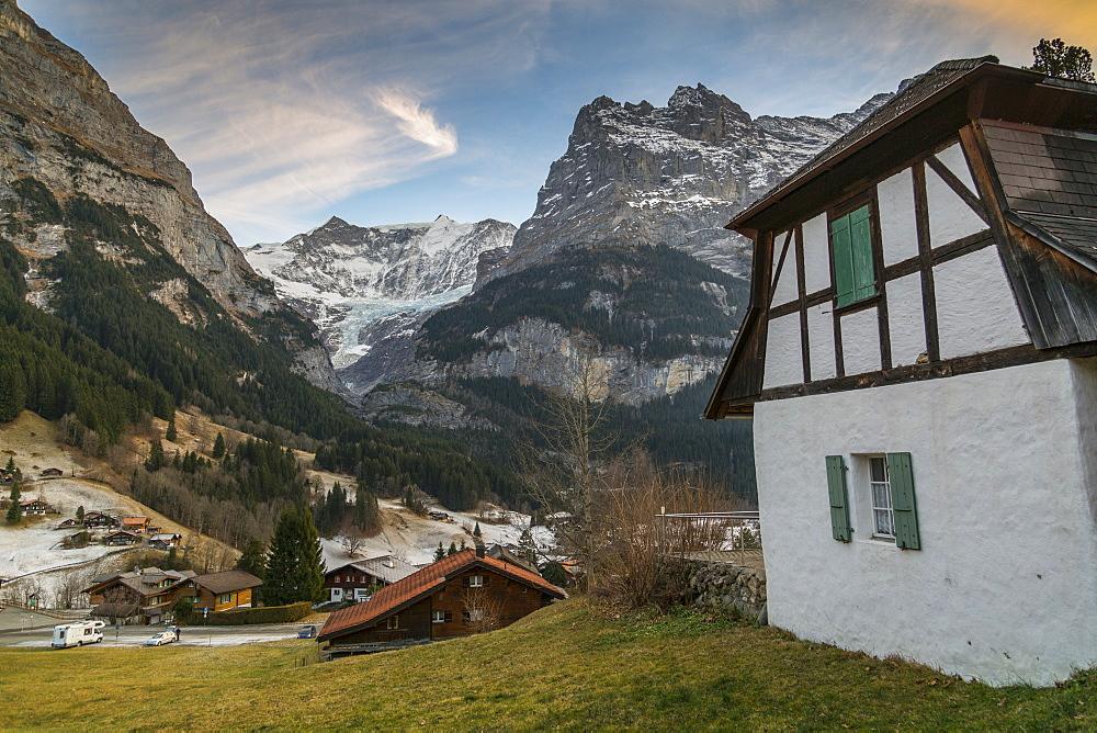The Eiger, Grindelwald, Jungfrau region, Bernese Oberland, Swiss Alps, Switzerland, Europe