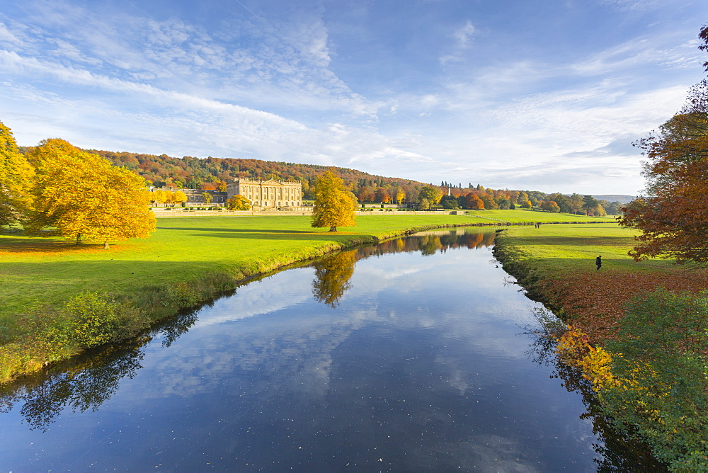 Chatsworth House, Peak District National Park, Derbyshire, England, United Kingdom, Europe
