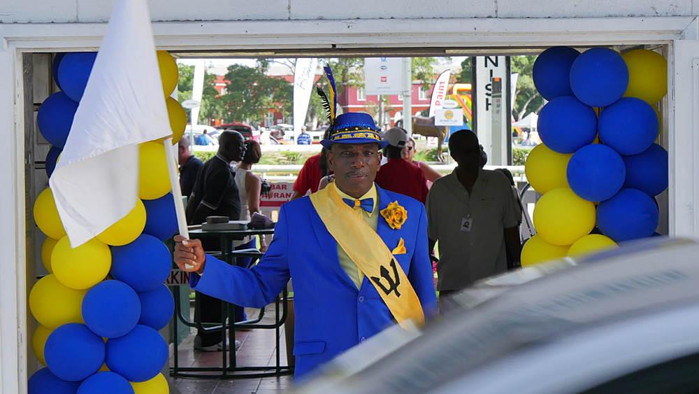 Race Starter at the Garrison Savannah Racecourse, St Michael, Barbados, West Indies, Caribbean - 844-11096