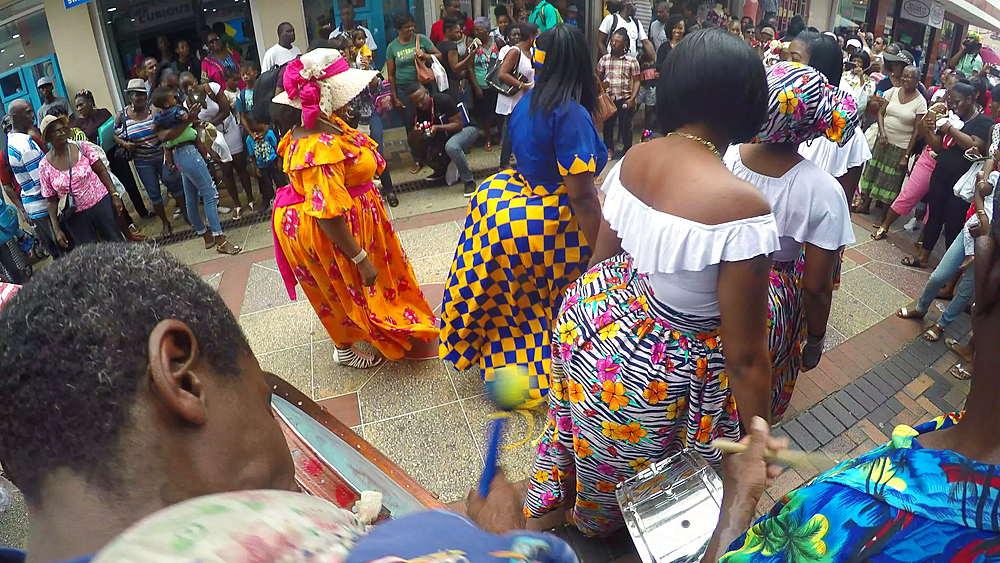 Entertainment on Swan Street, Bridgetown, St Michael, Barbados, West Indies, Caribbean - 844-11167