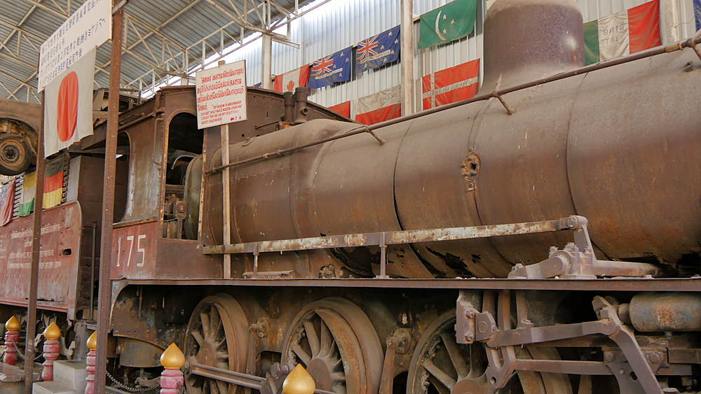 Steam Train at Prisoner of War Museum, Tha Ma Kham, Bangkok, Thailand, South Asia, Asia
