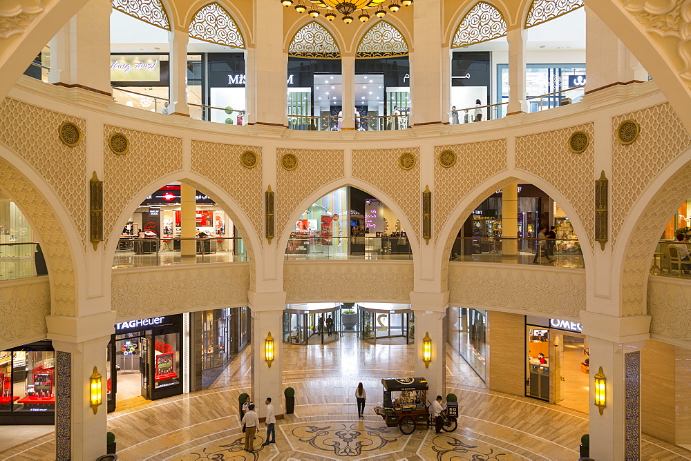 Ornate interior decoration of the Dubai Mall, Dubai, United Arab Emirates, Middle East