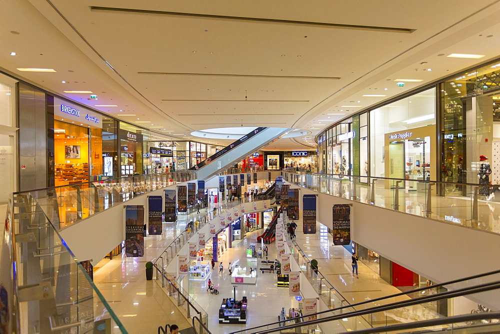 View of interior of the Marina Mall, Dubai, United Arab Emirates, Middle East