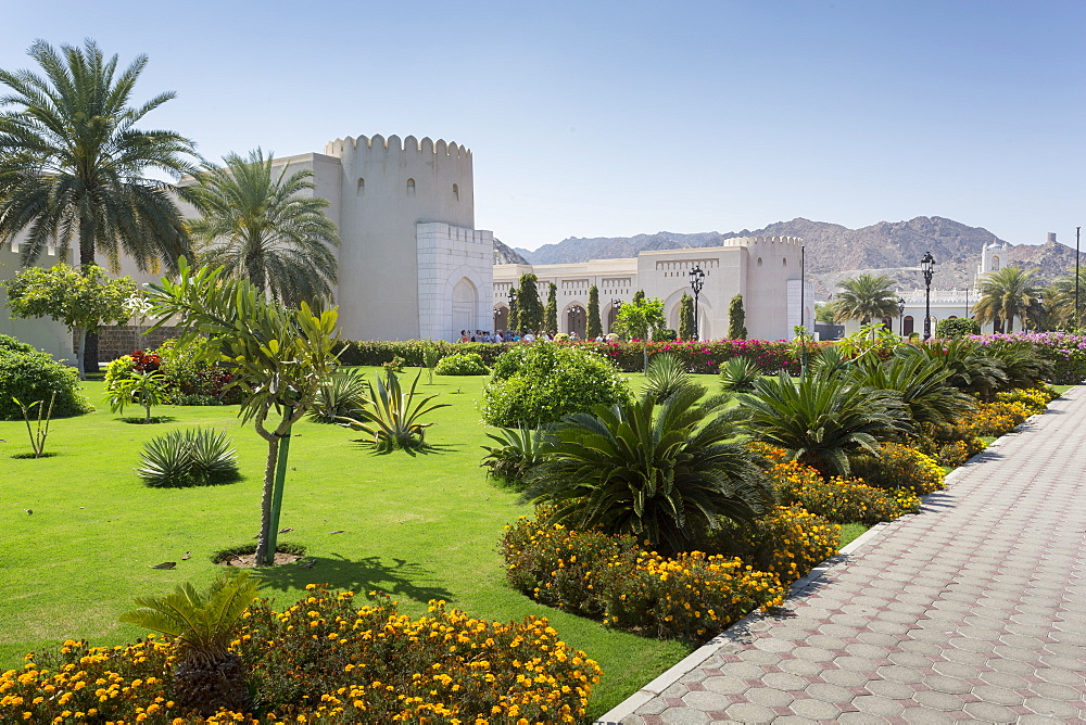 View of Al Alam Palace complex, Muscat, Oman, Middle East
