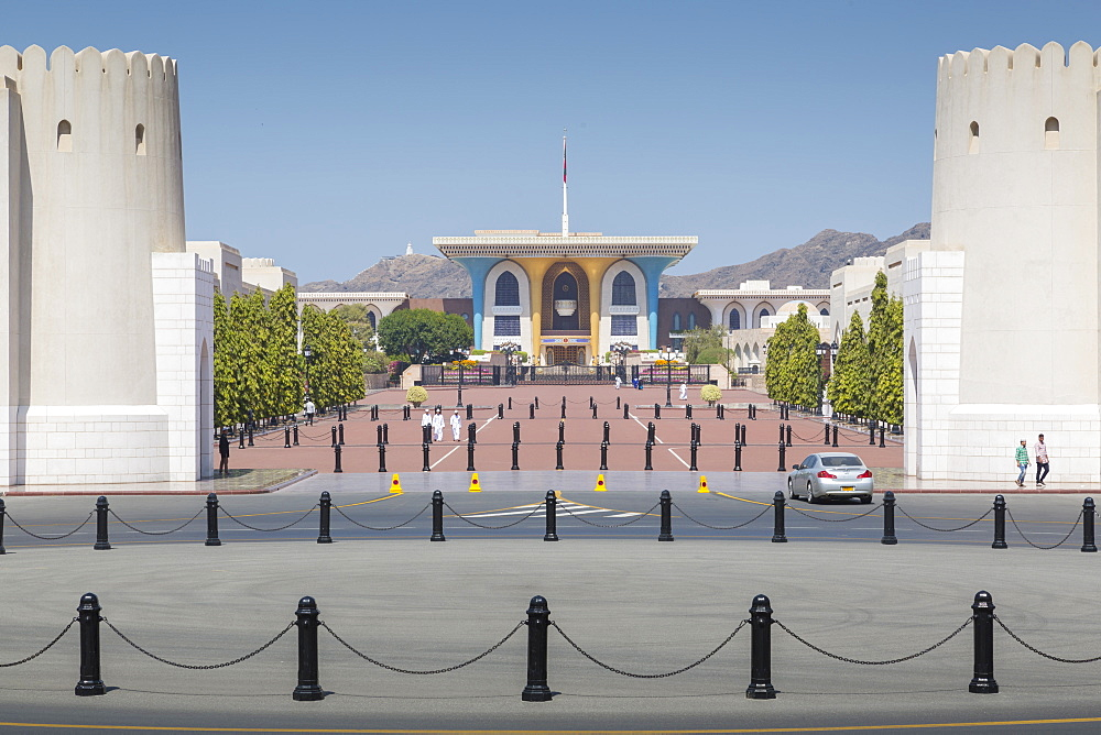 View of Al Alam Palace, Muscat, Oman, Middle East