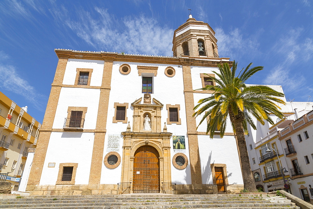View of Iglesia de Nuestra Señora de la Merced Ronda, Ronda, Andelusia, Spain, Europe - 844-12734