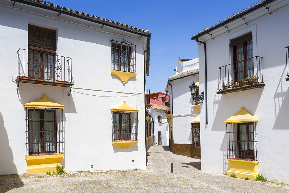 Traditional Spanish white washed houses near Plaza Duquesa de Parcent, Ronda, Andelusia, Spain, Europe - 844-12741
