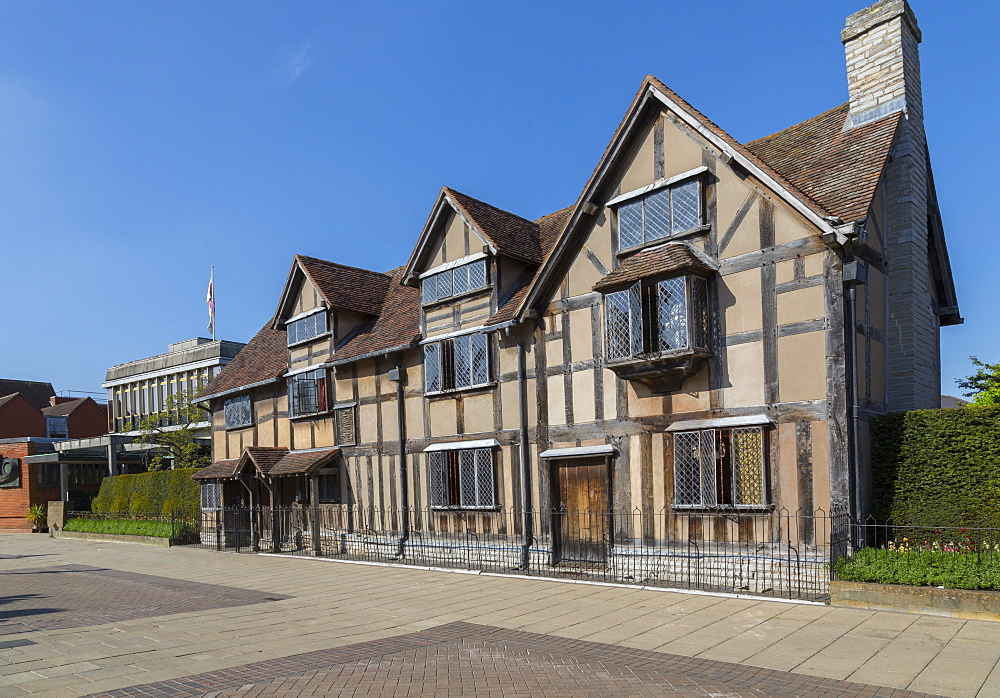 Shakespear's Birthplace on Henley Street, Stratford Upon Avon, Warwickshire, England, UK, Europe - 844-12771