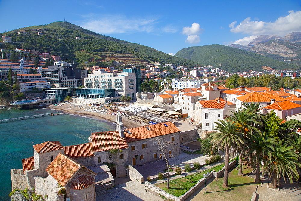 Walls of the Old Town, Budva, Montenegro, Europe