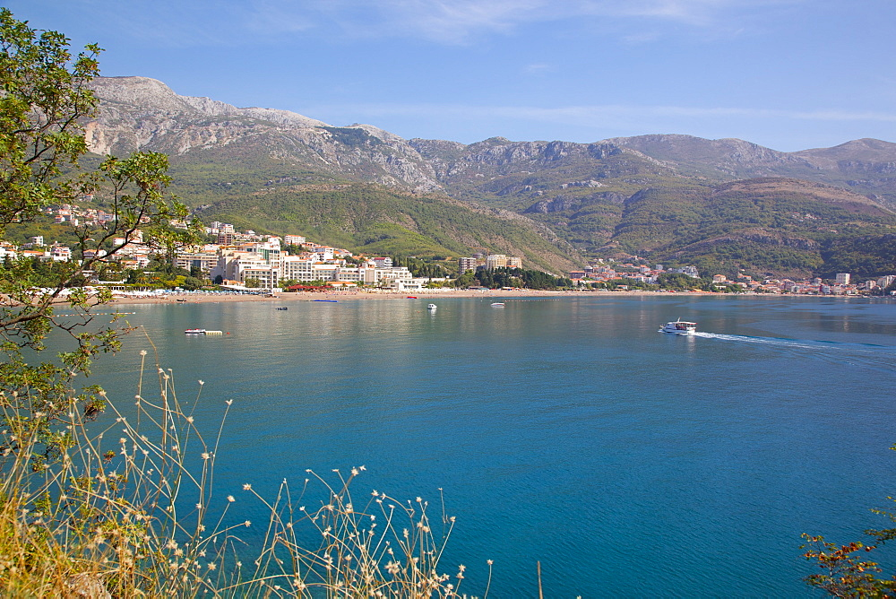 View of Bay, Becici, Budva Bay, Montnegro, Europe