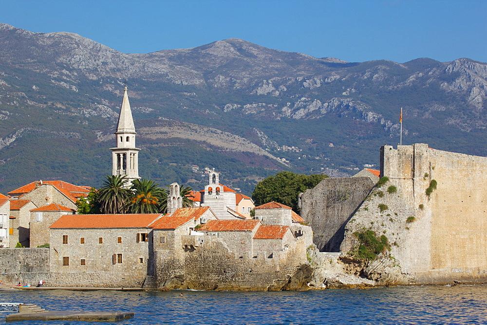 View of Old Town, Budva, Montenegro, Europe