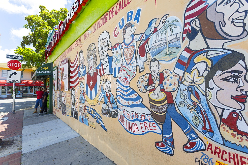 Wall paintings in Little Havana, Miami, Florida, United States of America, North America