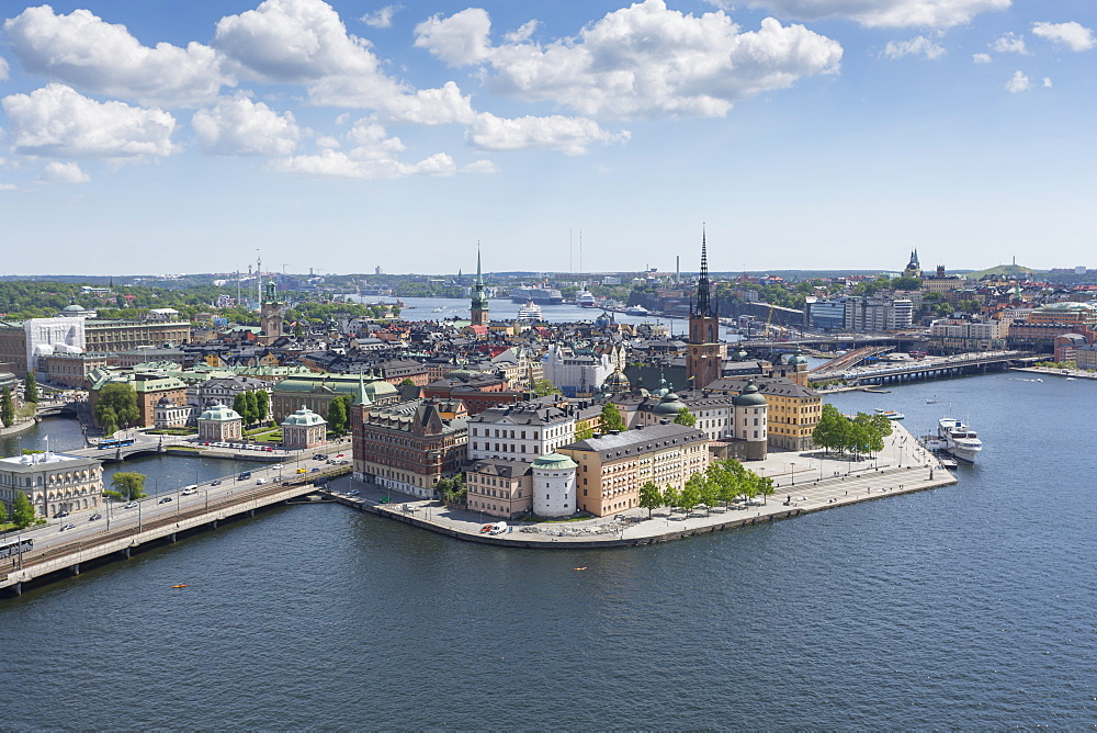 View of Riddarholmen Town Hall Tower, Stockholm, Sweden, Scandinavia, Europe