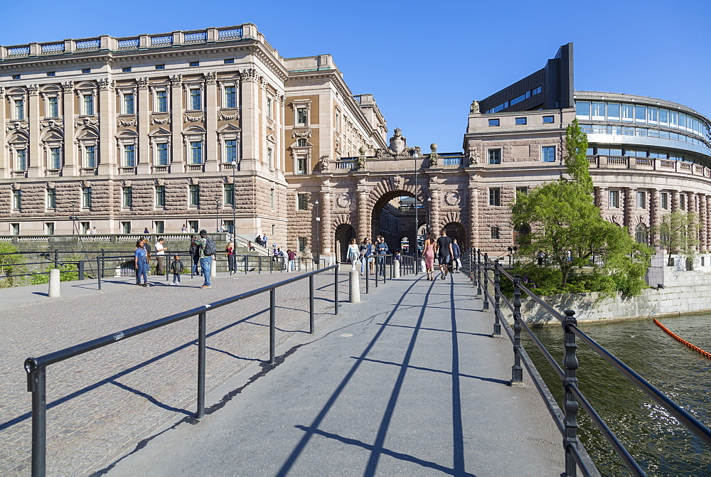 View of Parliament House Riksdagshuset, Stockholm, Sweden, Scandinavia, Europe - 844-13427