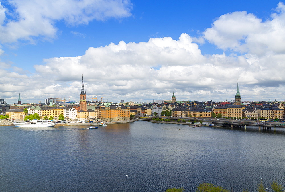 Riddarholmen Church and city skyline from Sodermalm, Stockholm, Sweden, Scandinavia, Europe - 844-13434